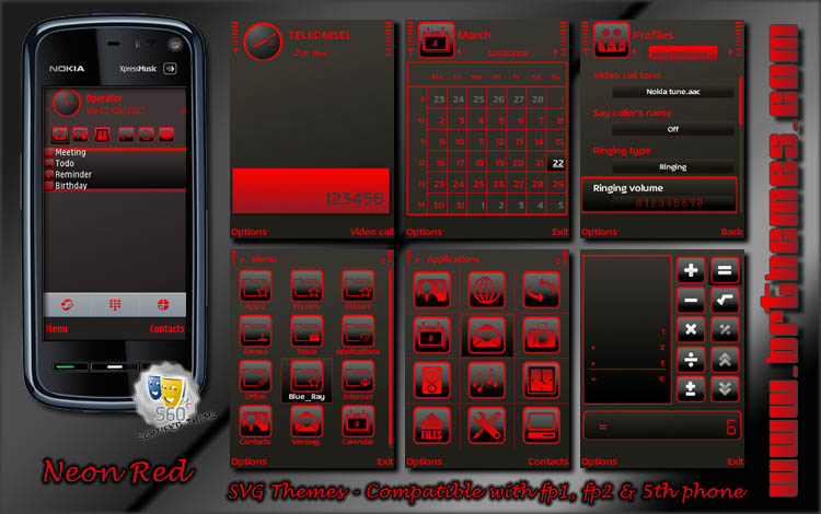 Neon Red by Blue_Ray | n-gage 2.0 maniac